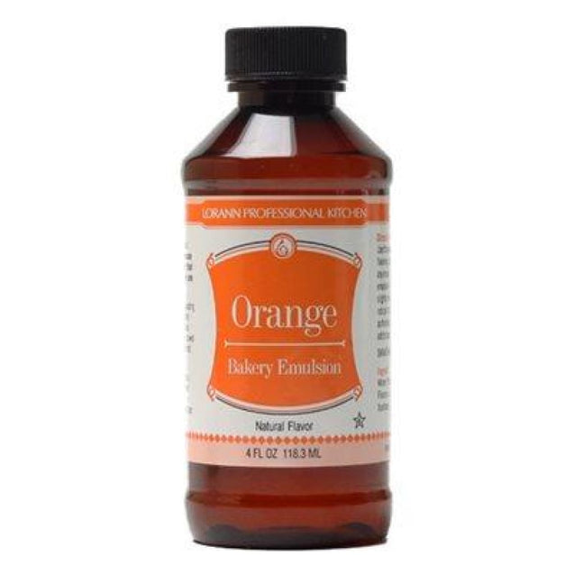Orange (Natural) Bakery Emulsion By Lorann Flavor Oils 4 Oz Spices And Flavorings