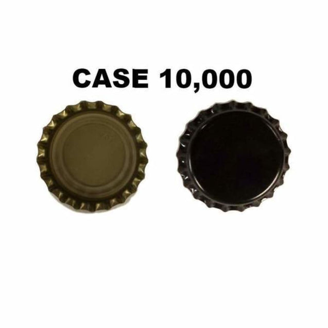 Oxygen Absorbing Beer Bottle Caps Crowns Case 10 000 / Black Crown Bottle Caps