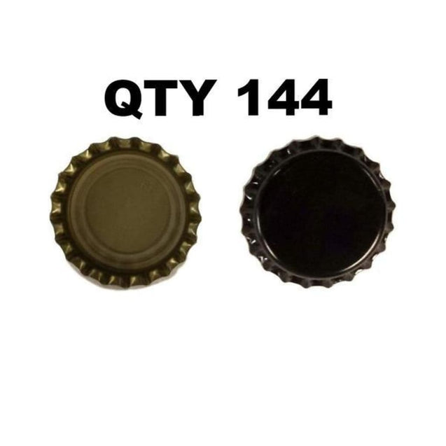 Oxygen Absorbing Beer Bottle Caps Crowns Qty 144 / Black Crown Bottle Caps