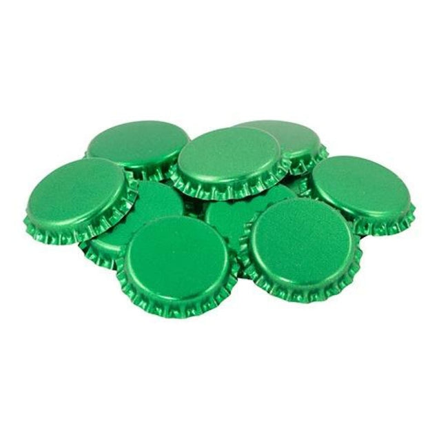 Oxygen Absorbing Beer Bottle Caps Crowns Qty 50 / Green Crown Bottle Caps