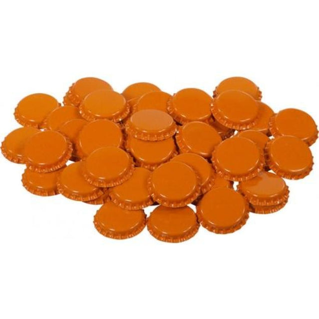 Oxygen Absorbing Beer Bottle Caps Crowns Qty 50 / Orange Crown Bottle Caps