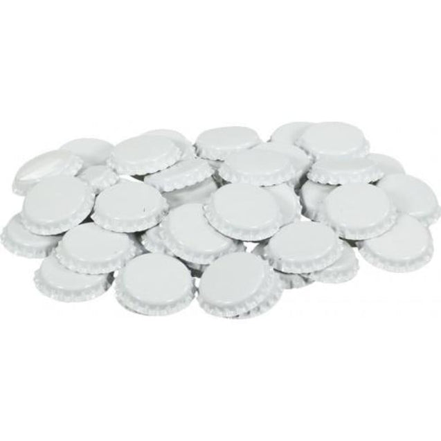 Oxygen Absorbing Beer Bottle Caps Crowns Qty 50 / White Crown Bottle Caps