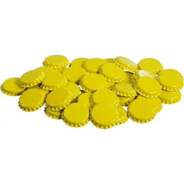 Oxygen Absorbing Beer Bottle Caps Crowns Qty 50 / Yellow Crown Bottle Caps