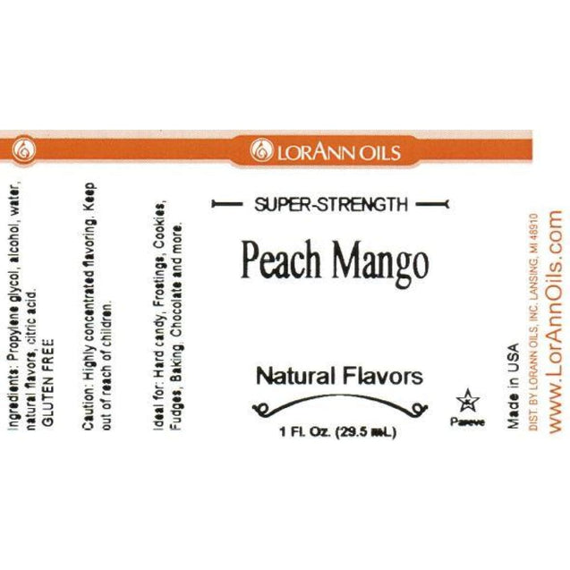 Peach Mango Natural Flavor By Lorann Flavor Oils Spices And Flavorings