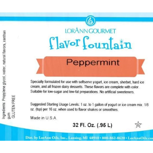 Peppermint (Clear) By Lorann Flavor Fountain Spices And Flavorings