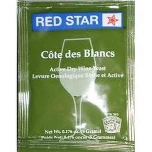 Red Star Cote De Blanc Wine Yeast 5 Gm 1 Pack Red Star Dry Wine Yeast