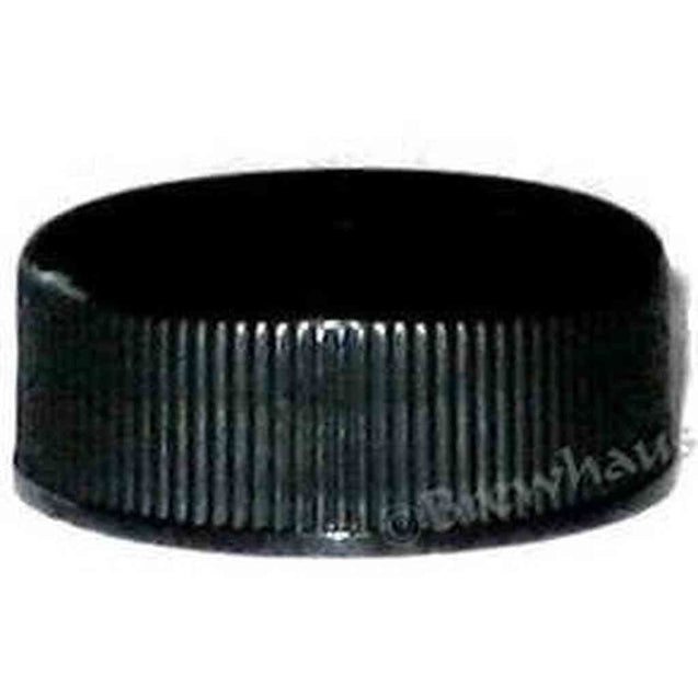 Short Black Plastic Screw Cap. 28Mm. 12 Per Package N/a