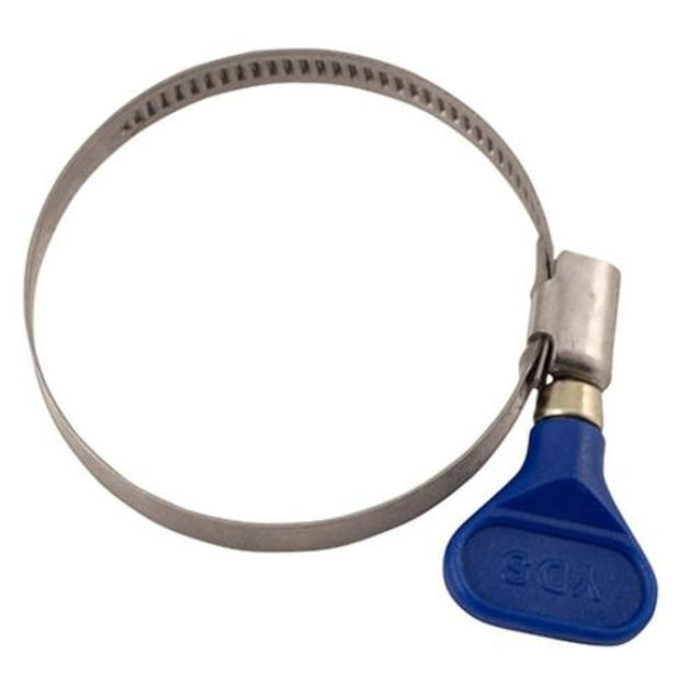 Stainless Hose Clamp Easy-Turn 2 3/8 In (40-60 Mm) - Blue Shut-Off Clamps And Siphon Tube Holders