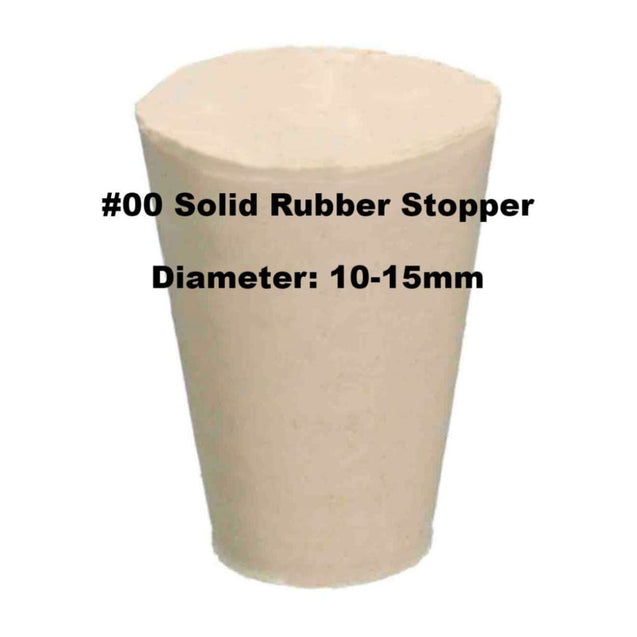 Tapered Solid Rubber Stopper Size 00 Rubber Stoppers