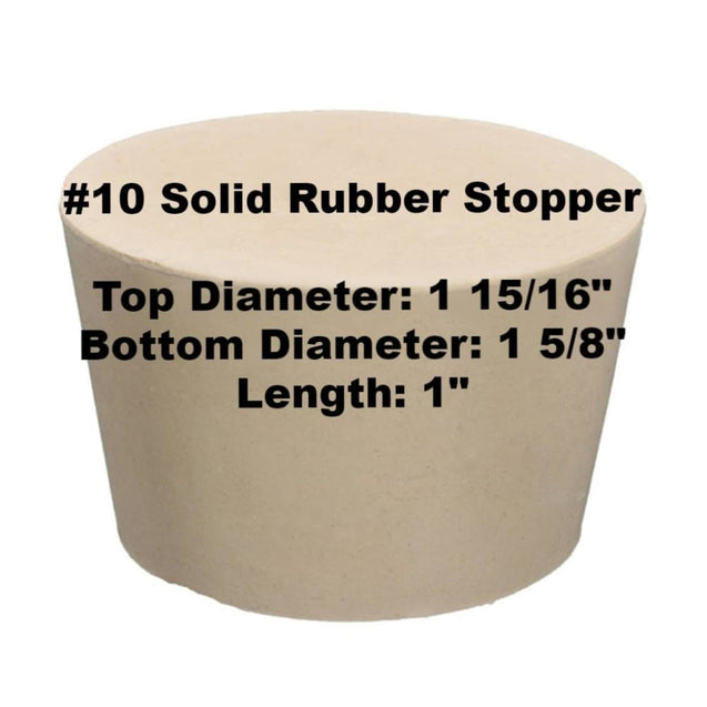 Tapered Solid Rubber Stopper Size 10 Rubber Stoppers
