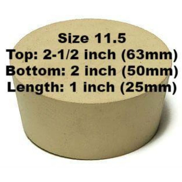 Tapered Solid Rubber Stopper Size 11 1/2 Rubber Stoppers