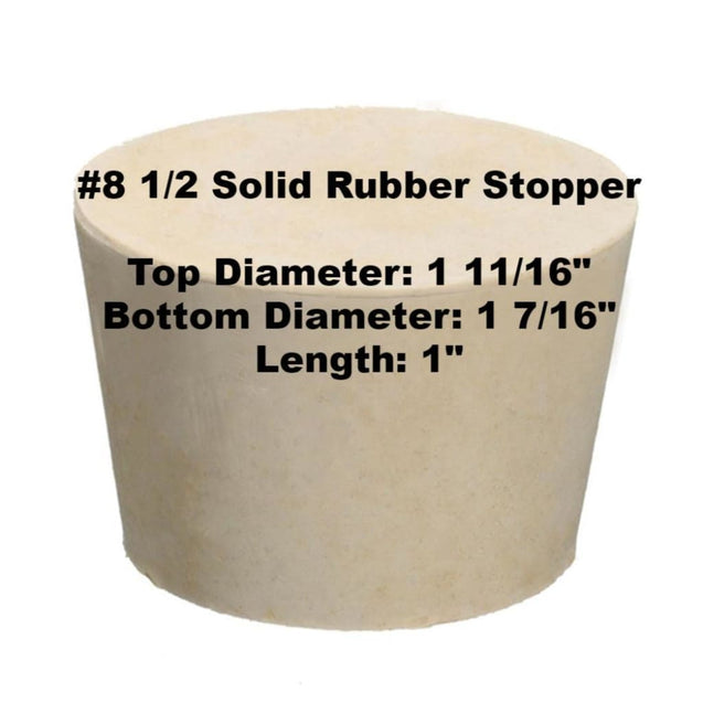 Tapered Solid Rubber Stopper Size 8 1/2 Rubber Stoppers