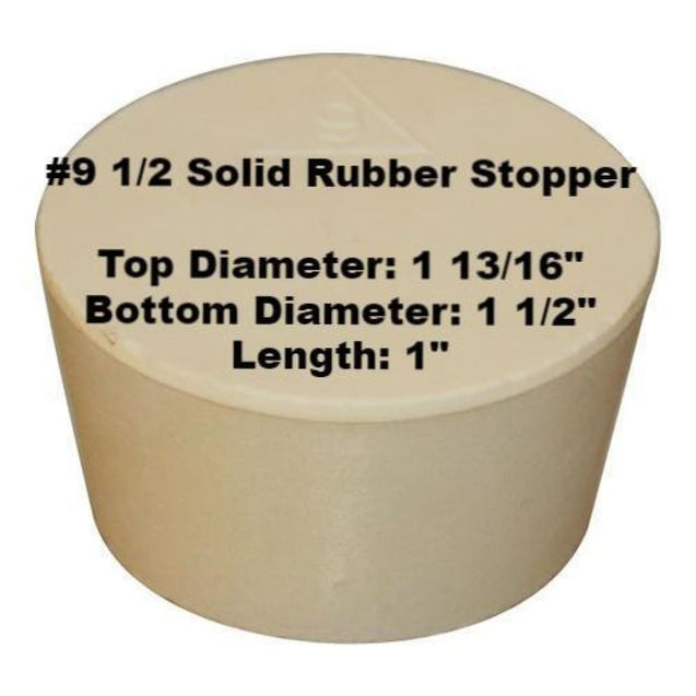 Tapered Solid Rubber Stopper Size 9 1/2 Rubber Stoppers