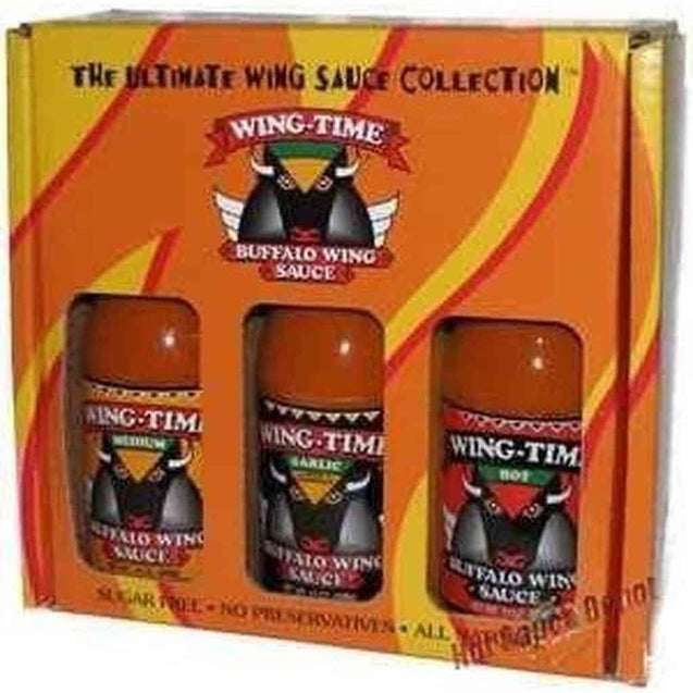 Wing-Time Gift Pack- 3 X 13Oz Hot Sauce