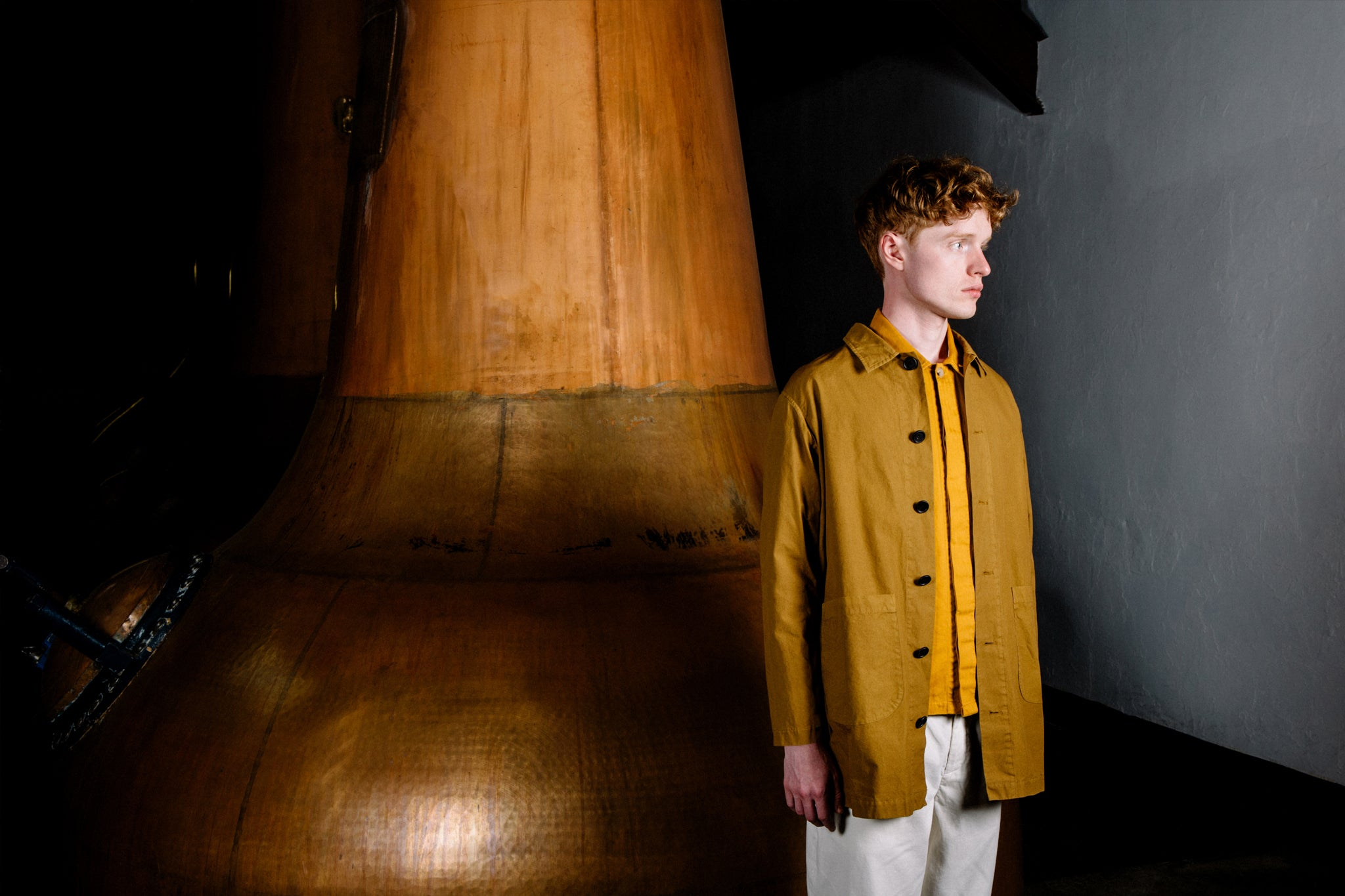 Kestin Hare SS19 Shop Coat 21 Year Aged Garment Dyed Cotton