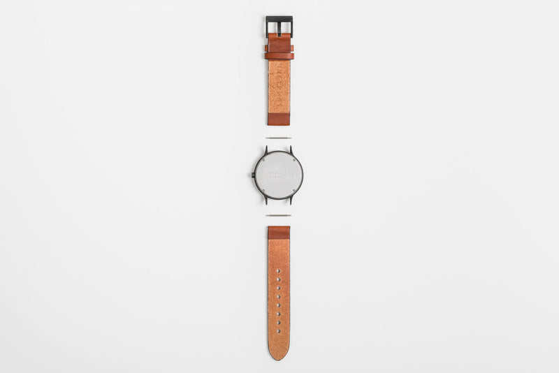 Instrmnt 01 Series In Tan/Gun Metal back view