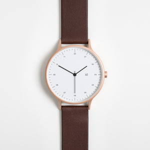 Instrmnt 01 Series (Rose Gold/Brown)