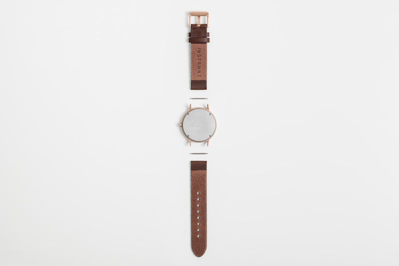 Instrmnt 01 Series In Rose Gold/Brown back view