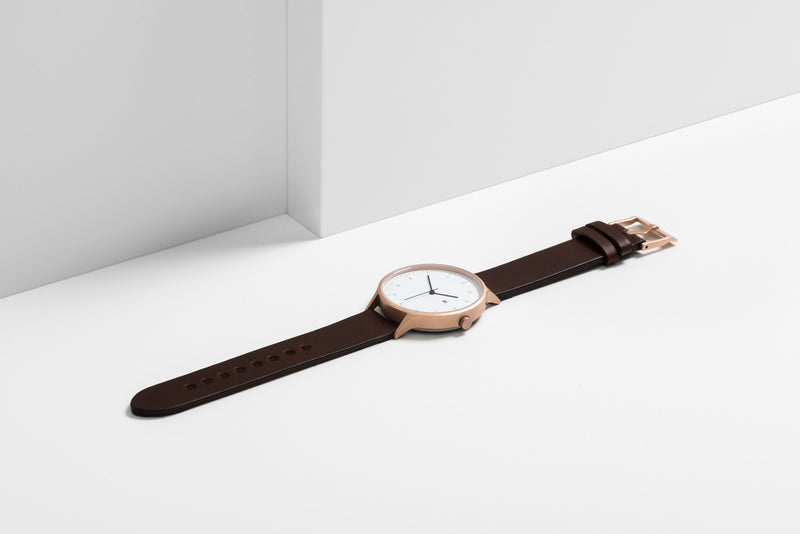 Instrmnt 01 Series In Rose Gold/Brown