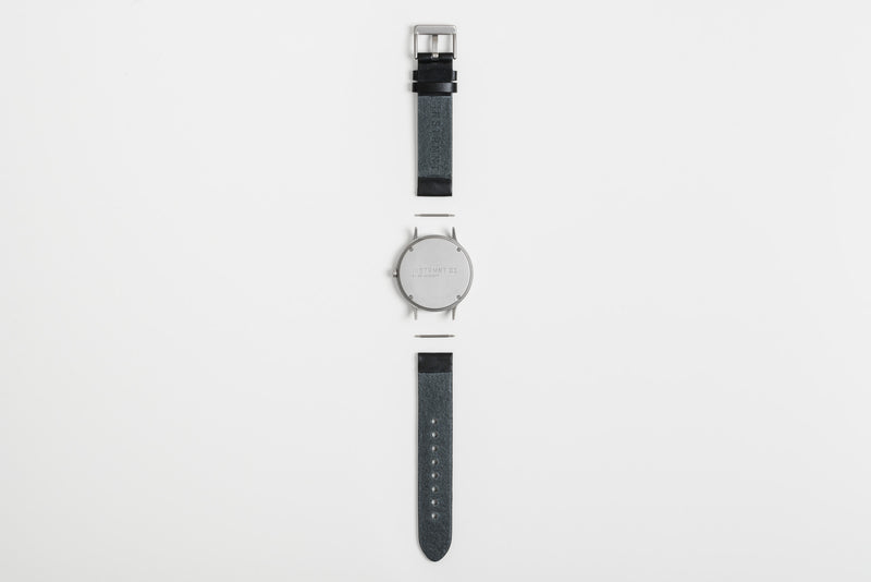Instrmnt 01 Series In Black/Silver back view