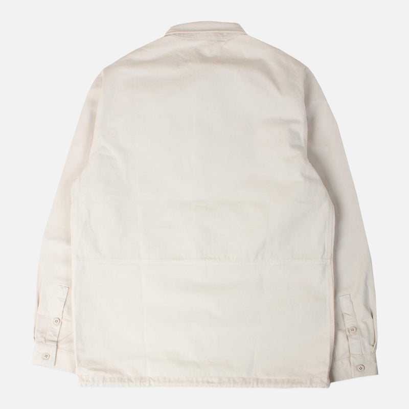 Kestin Hare Armadale Shirt Jacket In Ecru Brushed Cotton back view