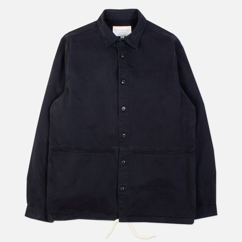 Kestin Hare Armadale Shirt Jacket Navy Brushed Cotton