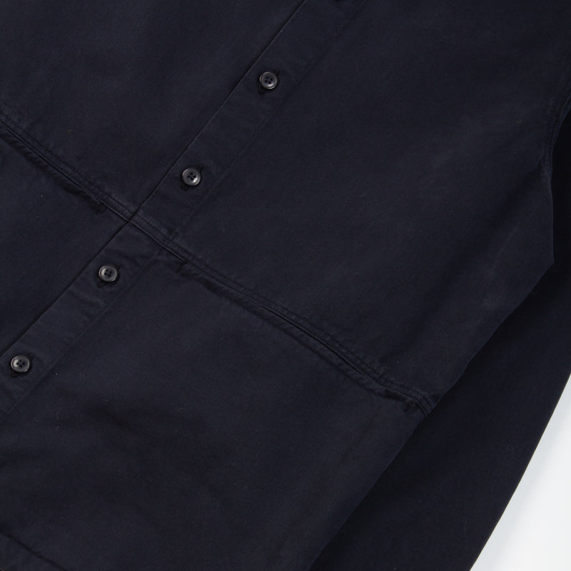 Kestin Hare Armadale Shirt Jacket Navy Brushed Cotton fabrics detail