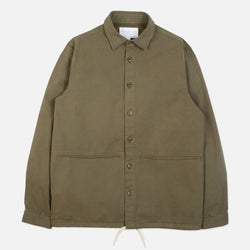 Kestin Hare Armadale Shirt Jacket Olive Brushed Cotton