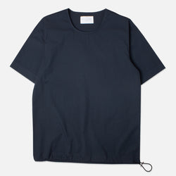 Kestin Hare Caddy Tee Navy Stretch Woven Cotton