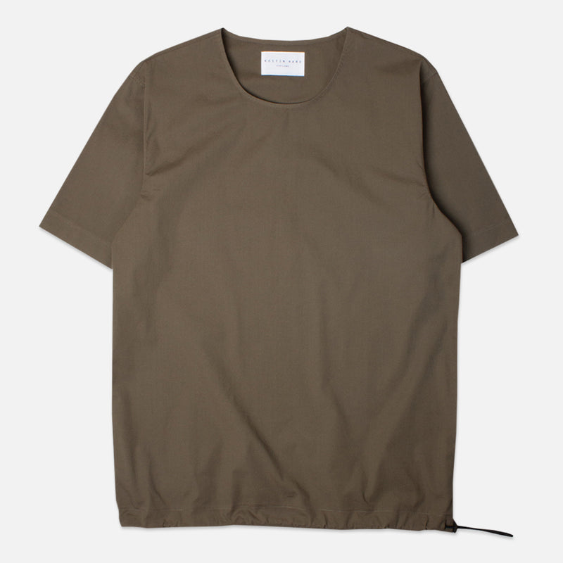 Caddy Tee Olive Stretch Woven Cotton
