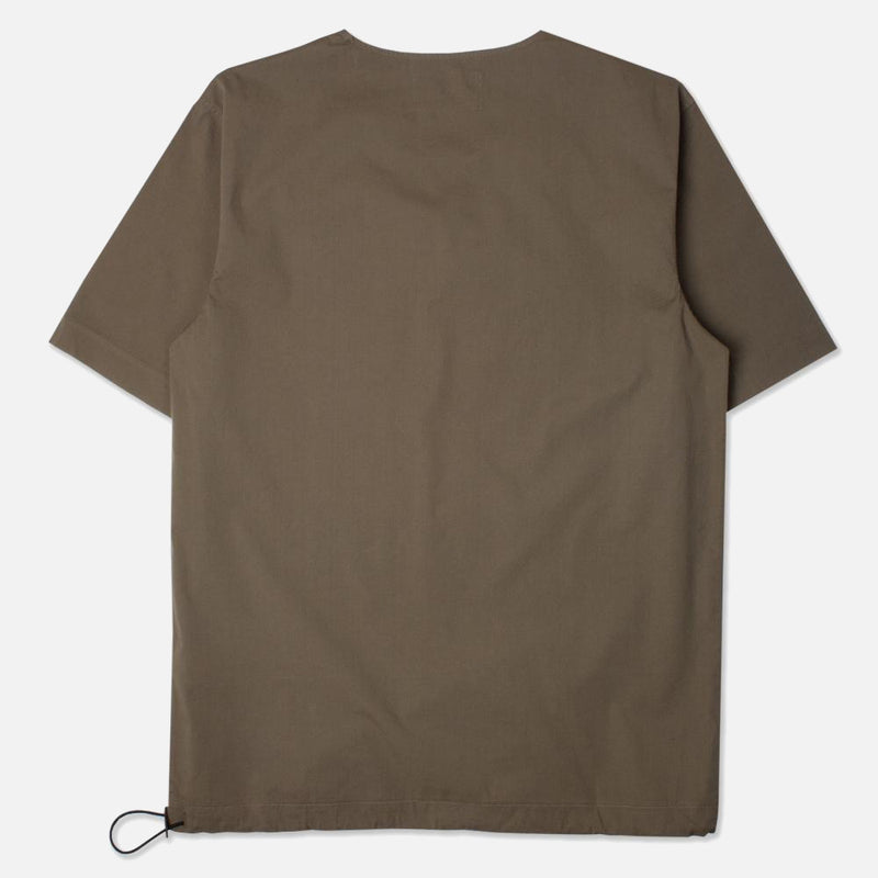 Caddy Tee In Olive Stretch Woven Cotton