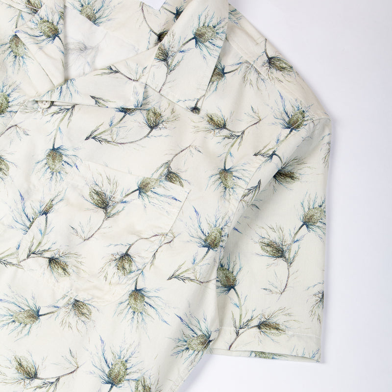 Kestin Hare Seacliff Shirt Printed Cotton Poplin sleeve detail