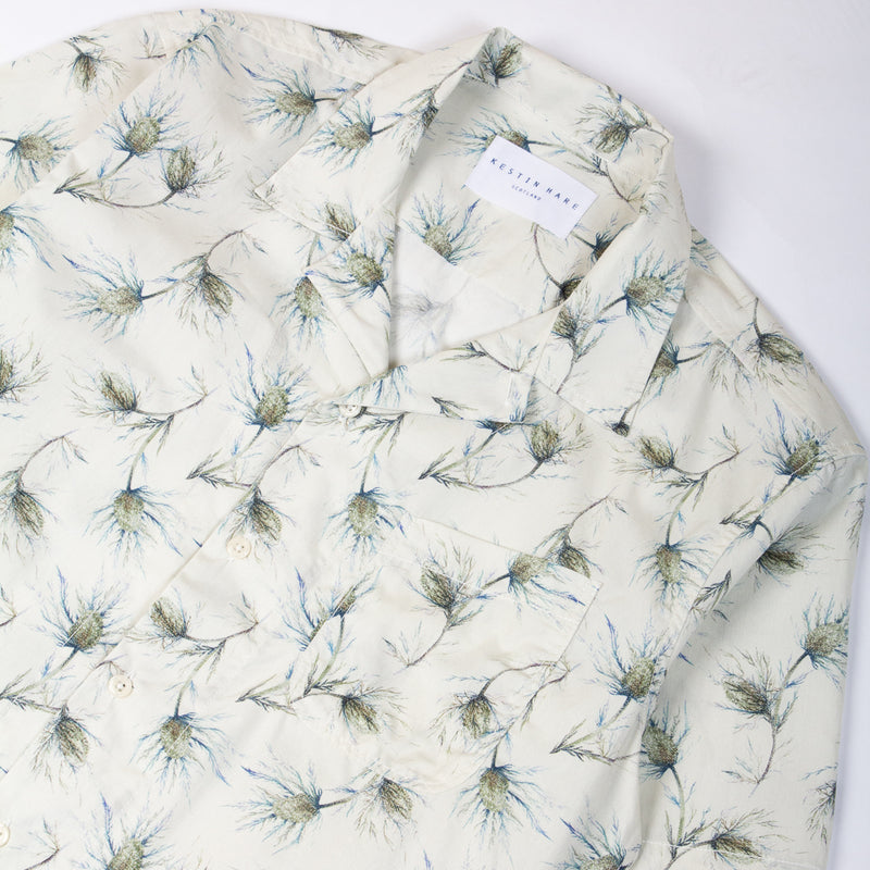 Kestin Hare Seacliff Shirt Printed Cotton Poplin collar detail