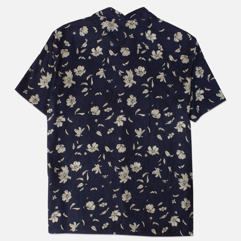 Kestin Hare Crammond Shirt Navy Floral Print Tencel back view