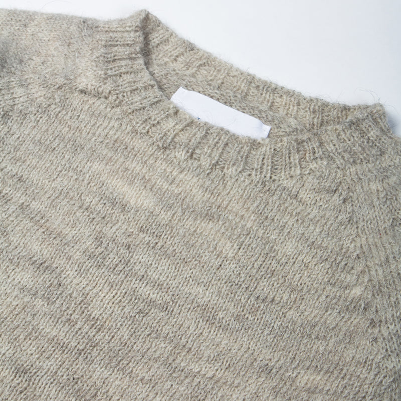 British Wool Crew Neck In Oatmeal