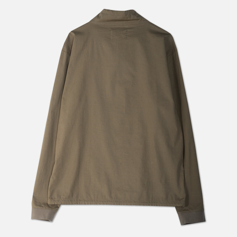 Crieff Sweat In Olive Woven Stretch Cotton