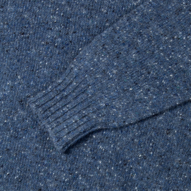 Donegal Roll Neck In Ocean Blue Merino Wool