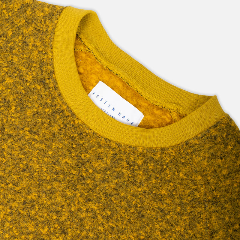 Durness Sweat In Pollen Yellow Boiled Wool
