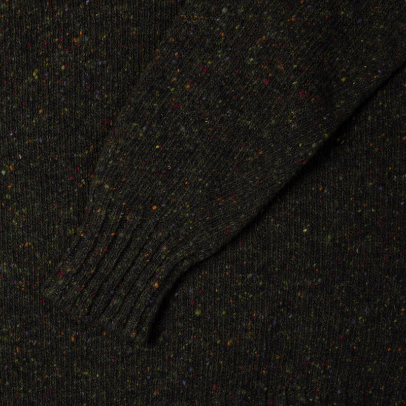 Donegal Roll Neck In Dark Forest Merino Wool