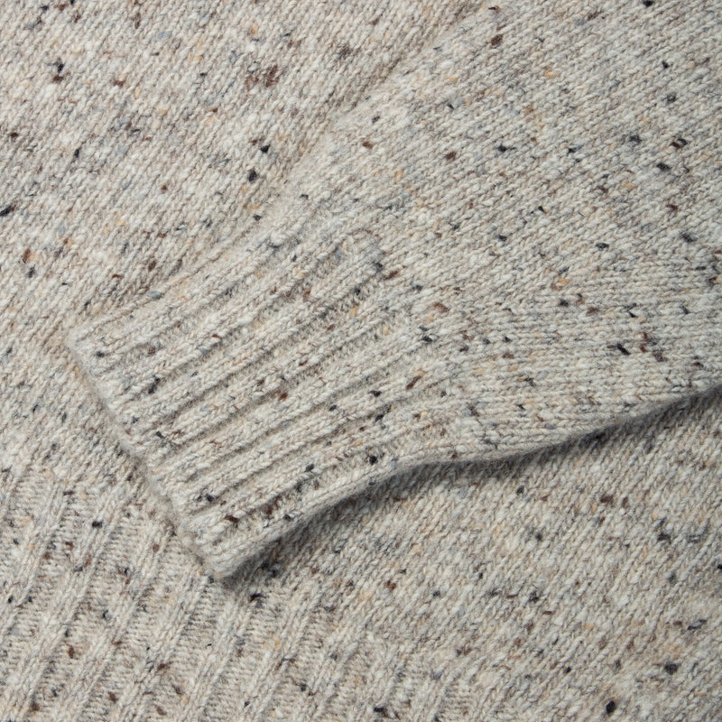 Donegal Roll Neck In Porridge Merino Wool