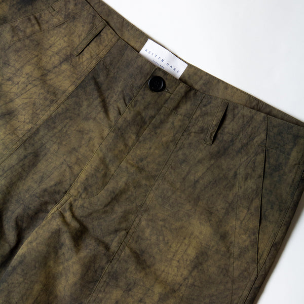 Kestin Hare Fatigue Short Olive Ripstop Nylon waist detail