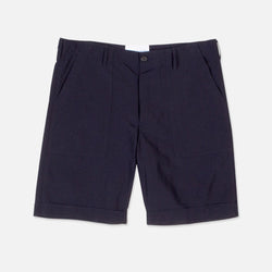 Fatigue Short In Navy Ripstop Nylon