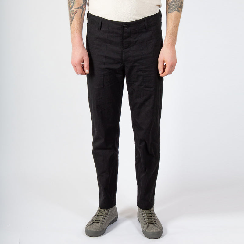 Kestin Hare Fatigue Pant in Black Cotton/Nylon worn