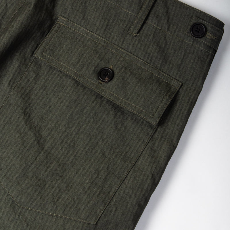 Kestin Hare Fatigue Pant Olive Cotton/Nylon back pocket detail