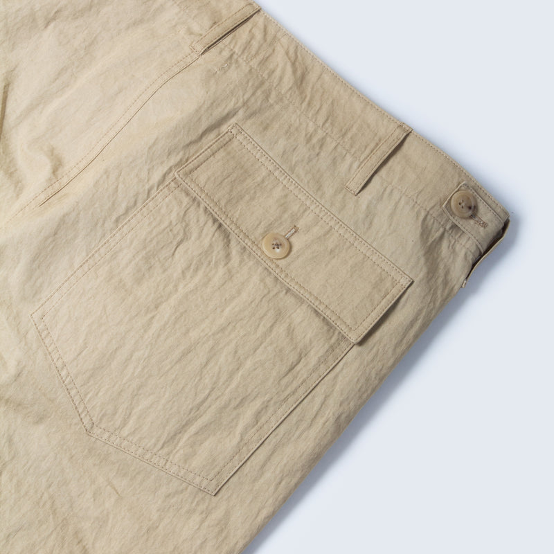 Kestin Hare Fatigue Pant In Sand Cotton/Nylon back pocket detail