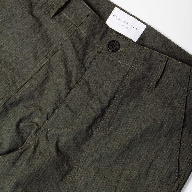 Kestin Hare Fatigue Pant Olive Cotton/Nylon waist detail