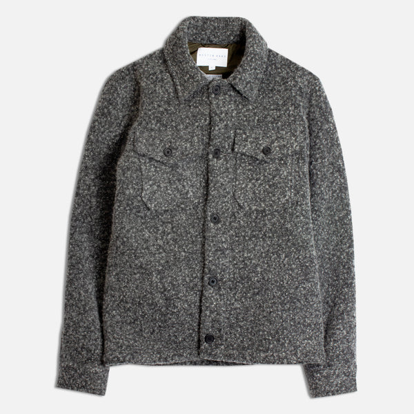 Field Overshirt In Charcoal Wool