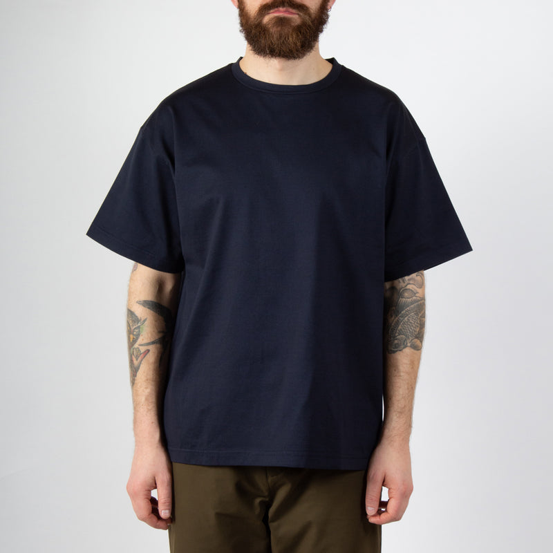 Kestin Hare Fly Tee Navy Cotton Jersey worn