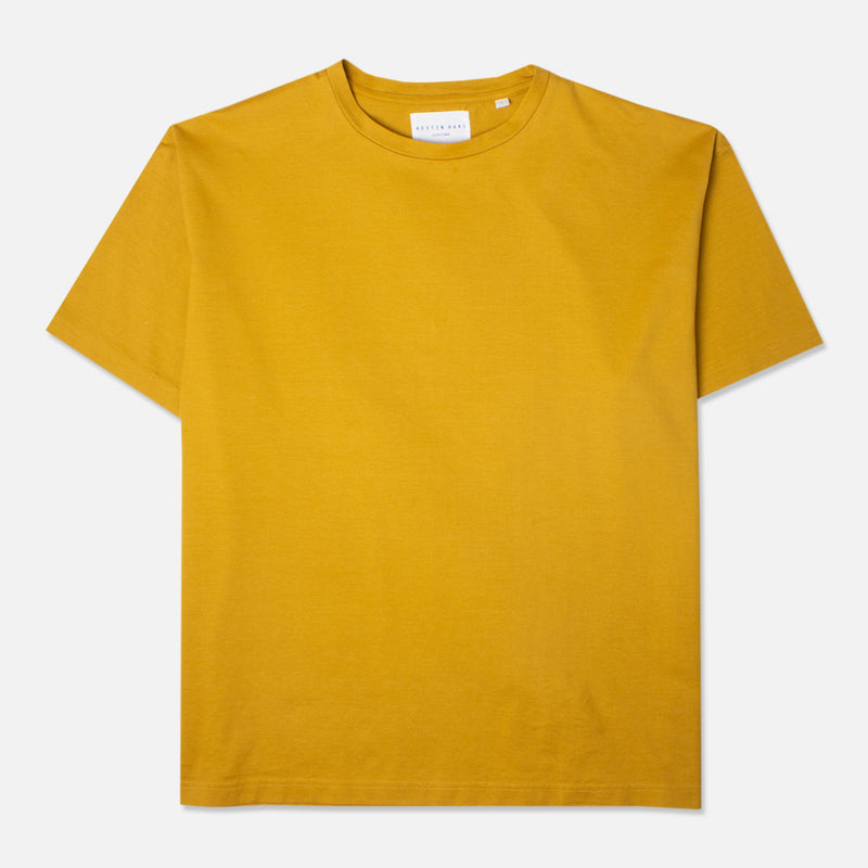 Fly Tee In Orange Whisky Cotton Jersey