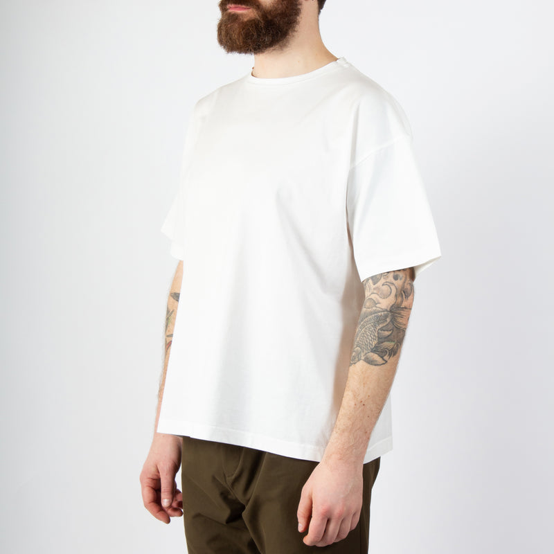 Fly Tee In White Cotton Jersey